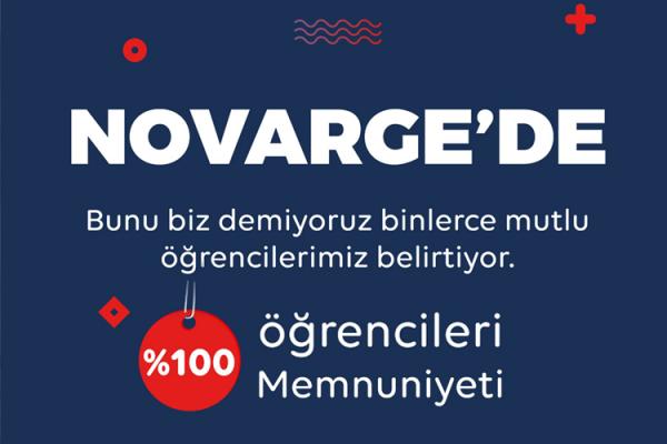 Novarge'de %100 öğrenci memnuniyeti